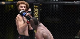 Khama Worthy punches Luis Pena at UFC on ESPN 12
