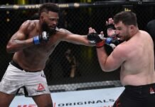 Maurice Greene punches Gian Villante UFC on ESPN 12