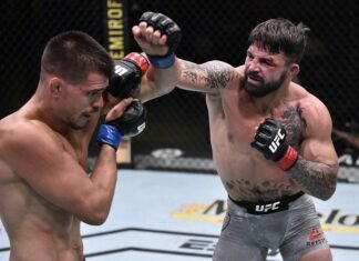 Mike Perry punches Mickey Gall at UFC on ESPN 12