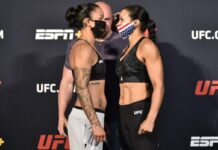 Raquel Pennington and Marion Reneau, UFC on ESPN 11