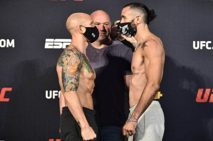 Josh Emmett and Shane Burgos, UFC on ESPN 11