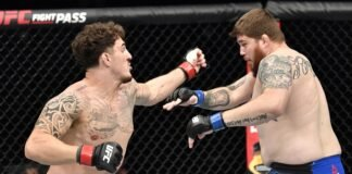 Tom Aspinall and Jake Collier, UFC Fight Island 3
