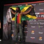 Jason Jackson, Bellator 242 ceremonial weigh-in