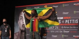 Jason Jackson, Bellator 242 ceremonial weigh-in