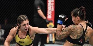 Bethe Correia lands on Pannie Kianzad UFC Fight Island 3