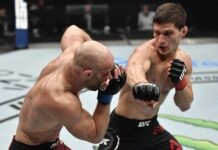 Movsar Evloev and Mike Grundy, UFC Fight Island 3