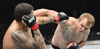 Carlos Felipe and Sergey Spivak exchange at UFC Fight Island 2