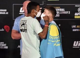 Raulian Paiva and Zhalgas Zhumagulov, UFC 251