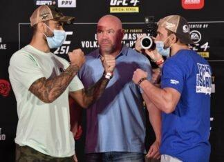 Elizeu Zaleski dos Santos of Brazil and Muslim Salikhov, UFC 251