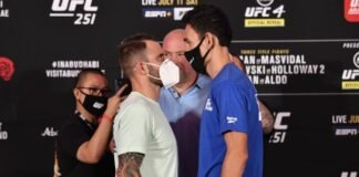 Alexander Volkanovski and Max Holloway, UFC 251