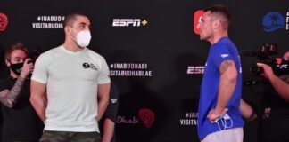 Robert Whittaker and Darren Till, UFC Fight Island 3 Face-Off
