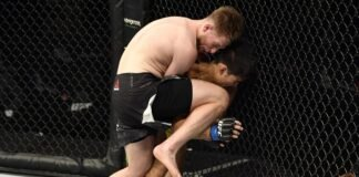 Jack Shore against Aaron Phillips at UFC Fight Island 1