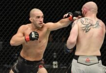 Jared Gordon lands a punch on Chris Fishgold, UFC Fight Island 1