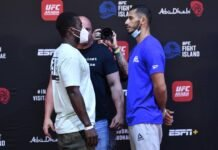 Abdul Razak Alhassan and Mounir Lazzez, UFC Fight Island 1