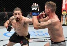 Robert Whittaker hits Darren Till, UFC Fight Island 3