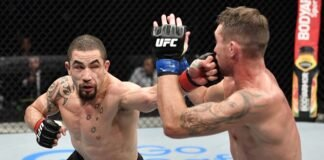Robert Whittaker hits Darren Till, UFC Fight Island 3