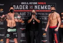 Ryan Bader and Vadim Nemkov, Bellator 244