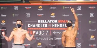 Michael Chandler and Benson Henderson Bellator 243