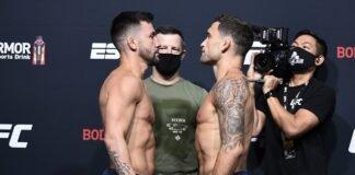 UFC Vegas 7's Pedro Munhoz and Frankie Edgar
