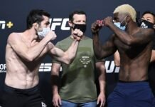 Timur Valiev and Trevin Jones face off ahead of UFC Vegas 7