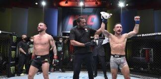 Pedro Munhoz and Frankie Edgar at UFC Vegas 7
