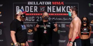 Roy Nelson and Valentin Moldavsky Bellator 244