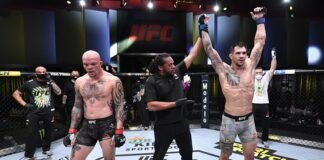 Aleksandar Rakic and Anthony Smith, UFC Vegas 8