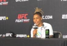 Shana Dobson after UFC Vegas 7