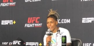 Shana Dobson after UFC Vegas 7