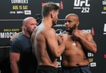 Stipe Miocic and Daniel Cormier, UFC 252