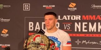 Vadim Nemkov Bellator 244 post-fight