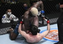 Timur Valiev and Trevin Jones at UFC Vegas 7