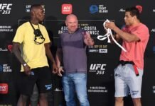 Israel Adesanya and Paulo Costa, UFC 253