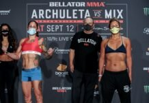 Liz Carmouche and DeAnna Bennett Bellator 246