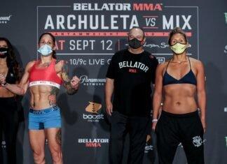 Liz Carmouche and DeAnna Bennett Bellator 246
