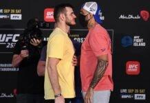 Khadis Ibragimov and Danilo Marques, UFC 253 face-off