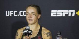 Jessica-Rose Clark UFC Vegas 11 post-fight