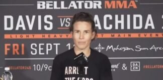 Leslie Smith Bellator 245 post-fight