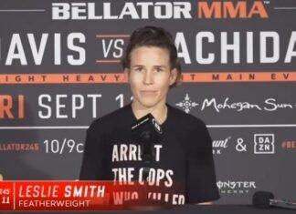 Leslie Smith Bellator 245 post-fight
