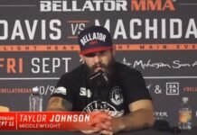 Taylor Johnson Bellator 245 post-fight