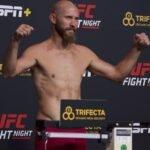 """Donald """"Cowboy"""" Cerrone, UFC Vegas 11 Weigh-In"""