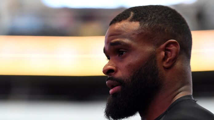 Tyron Woodley UFC Vegas 11 post-fight press conference poster