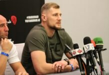 Alexander Volkov UFC 254 media day