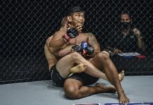 ONE Championship: Inside the Matrix main event, Reinier de Ridder takes the back of Aung La N Sang