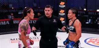Cris Cyborg and Arlene Blencowe, Bellator 249