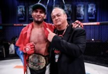 Gegard Mousasi and Scott Coker, Bellator 250
