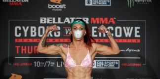 Cris Cyborg Bellator 249 weigh-in