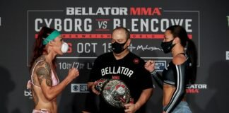 Cris Cyborg and Arlene Blencowe, Bellator MMA