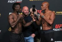 Uriah Hall and Anderson Silva, UFC Vegas 12