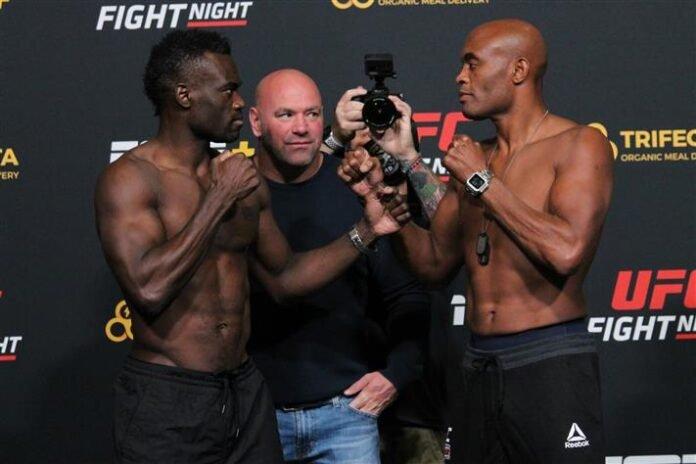 Uriah Hall and Anderson Silva, UFC Vegas 12